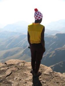 Phomello, au sommet de Cathedral Peak
